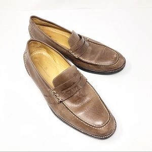 Sandro Moscoloni   Mens Brown Loafers 10.5D